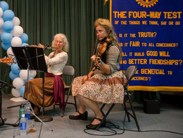 HOLLYN JOHNSON/Tribune-Herald Katie German music is played during the 16th Annual Oktoberfest Friday evening put on by the Rotary Club of Hilo Bay at Sangha Hall.
